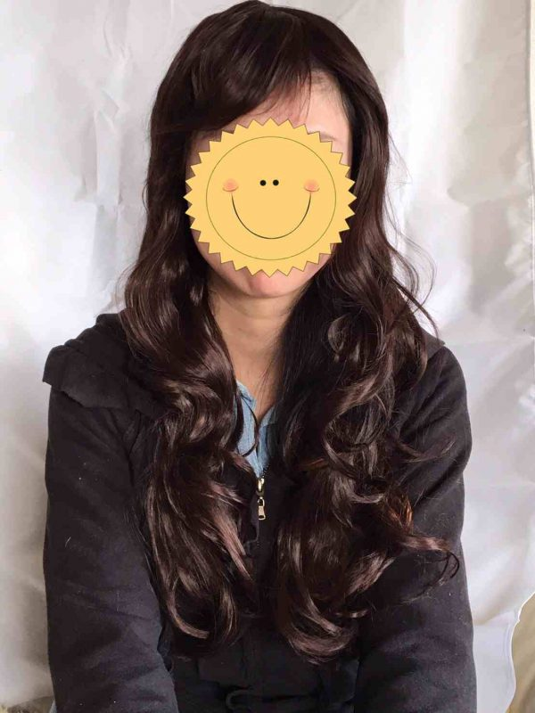 Dark Brown Long Wig Front